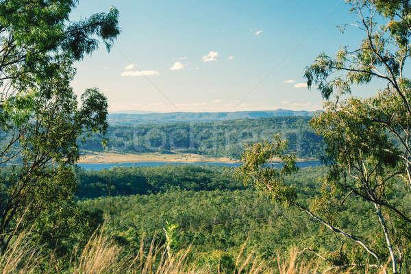 Queensland water landschap rock park mooie Stockfoto © artistrobd