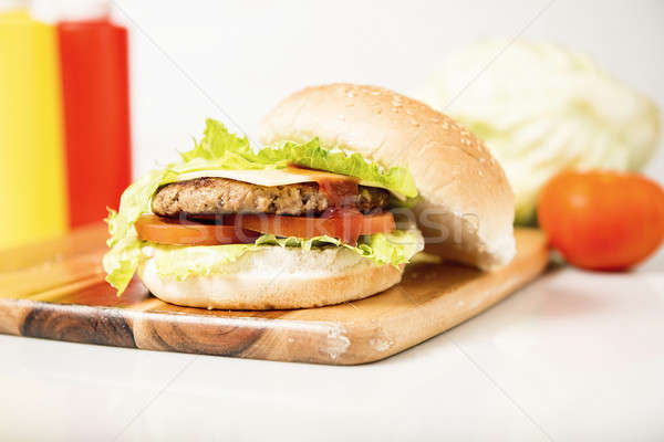 Classic Hamburger with cheese Stock photo © artistrobd
