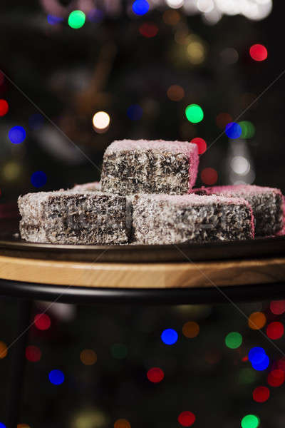 Lamingtons on a baking tray Stock photo © artistrobd