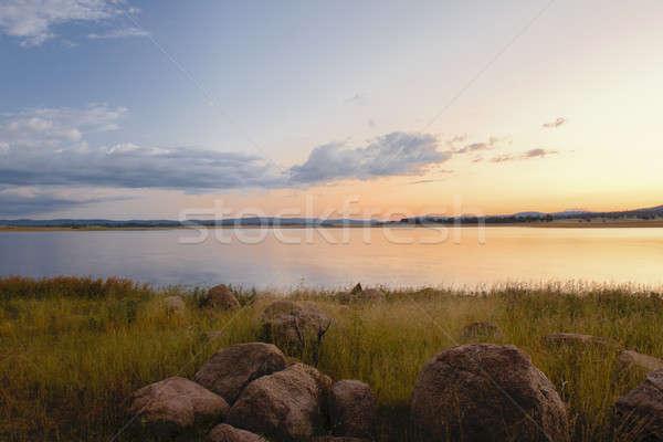 Meer queensland laat namiddag hemel water Stockfoto © artistrobd