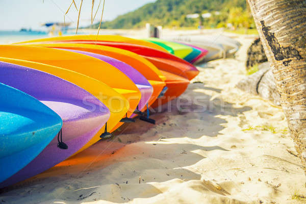Kayaks Stock photo © artistrobd