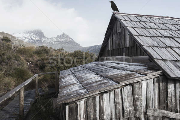 Boat shed in Dove Lake, Tasmania Stock photo © artistrobd