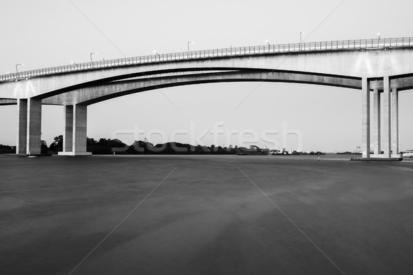 Brug snelweg brisbane zwart wit bruggen Stockfoto © artistrobd