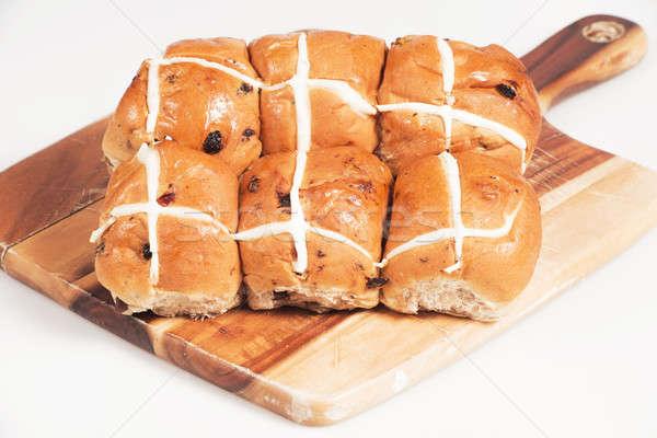 горячей крест древесины совета белый Пасху Сток-фото © artistrobd