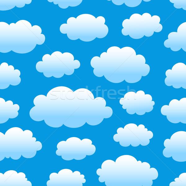 Nublado céu padrão azul verão Foto stock © artizarus