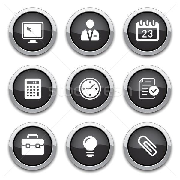 Foto stock: Preto · negócio · escritório · botões · brilhante · projeto