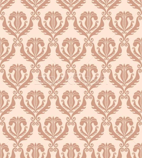 Sem costura damasco papel de parede retro seda antigo Foto stock © artizarus