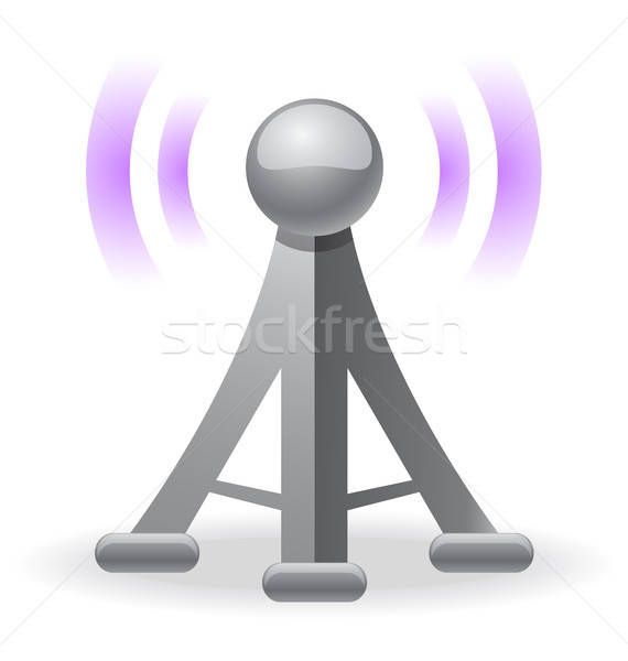 Sem fio torre ícone comunicação Foto stock © artizarus