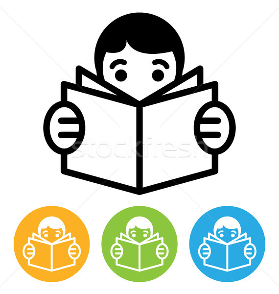 reading icon Stock photo © artizarus