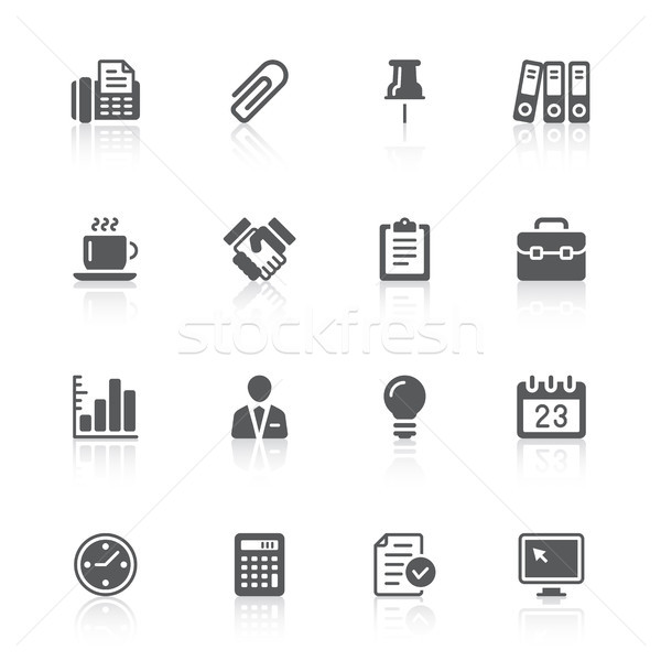 business & office icons Stock photo © artizarus