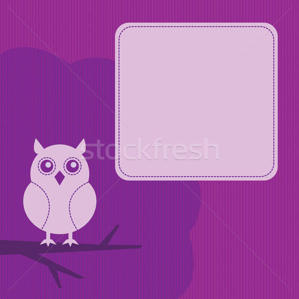 frame with night owl Stock photo © artizarus