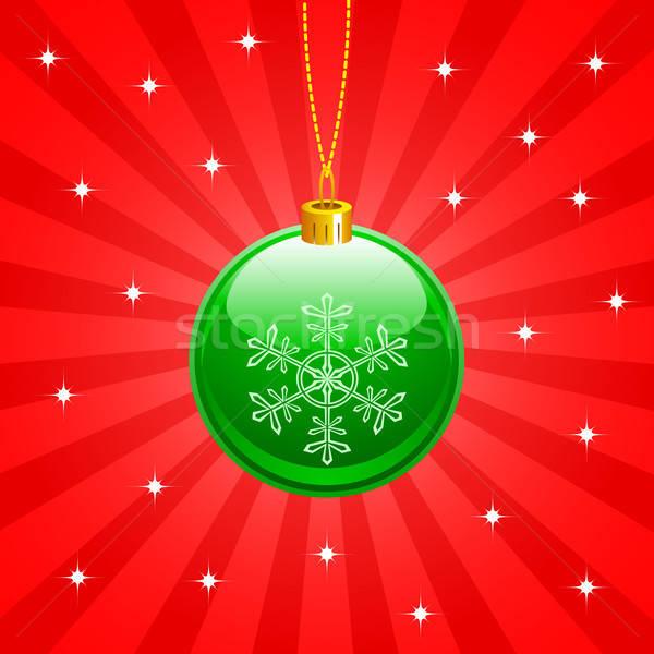 Natal bola verde vermelho ouro branco Foto stock © artizarus