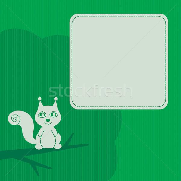 frame with squirrel Stock photo © artizarus
