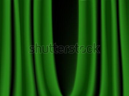green curtain Stock photo © artizarus