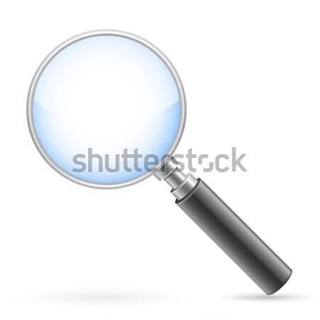 Foto stock: Lupa · vidro · branco · sombra · azul · pesquisar