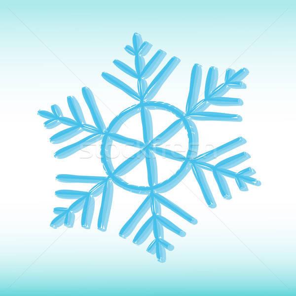 Floco de neve elegante inverno branco natal ícone Foto stock © artizarus