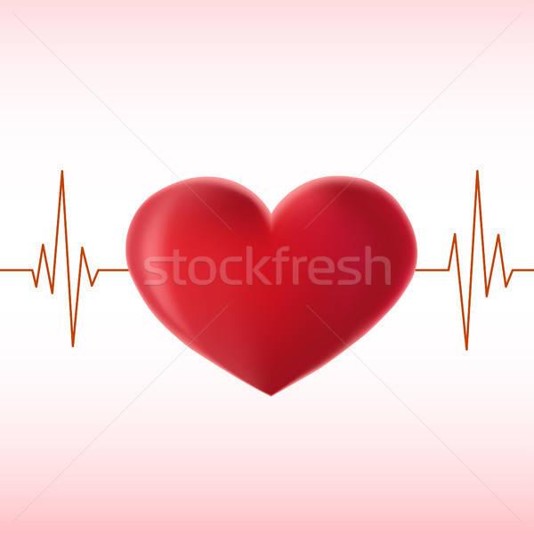 pulse heart Stock photo © artizarus