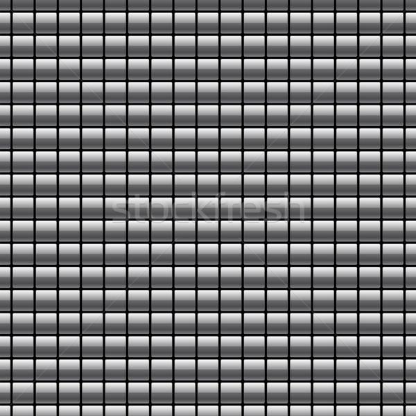 Cromo botões textura papel de parede telha Foto stock © artizarus