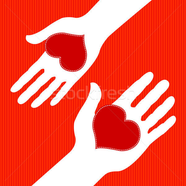 Amor troca homem mulher corações dia dos namorados Foto stock © artizarus