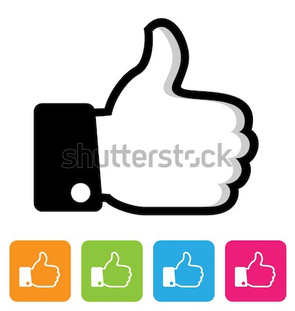 thumbs up like symbol Stock photo © artizarus