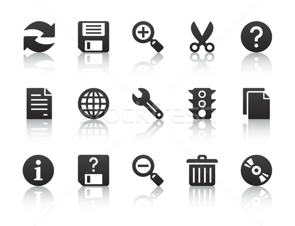 universal software icons Stock photo © artizarus