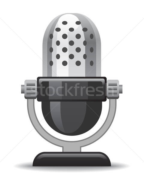 Microfone ícone site apresentação aplicação projeto Foto stock © artizarus