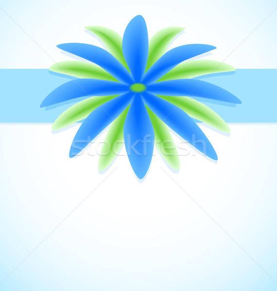 幻想的な 花 グリーティングカード 抽象的な 青 結婚式 ストックフォト © artizarus