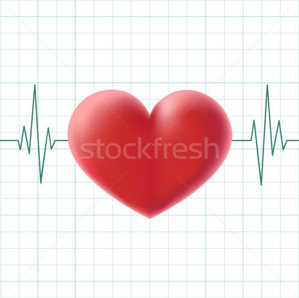 pulse heart on a screen Stock photo © artizarus