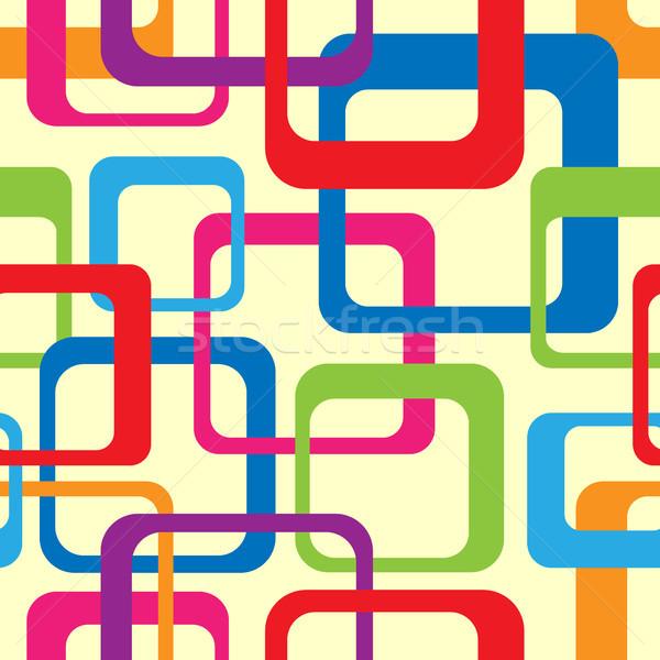 Retro moda abstrato padrão funk Foto stock © artizarus