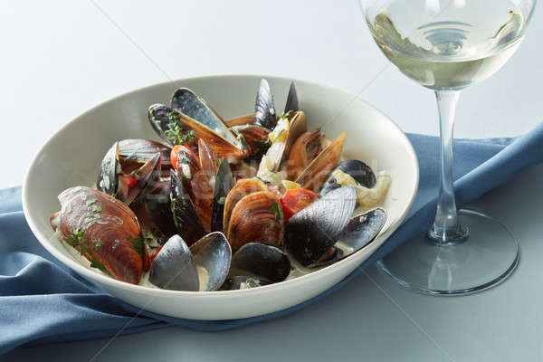 Moules marnieres mussels Stock photo © artjazz