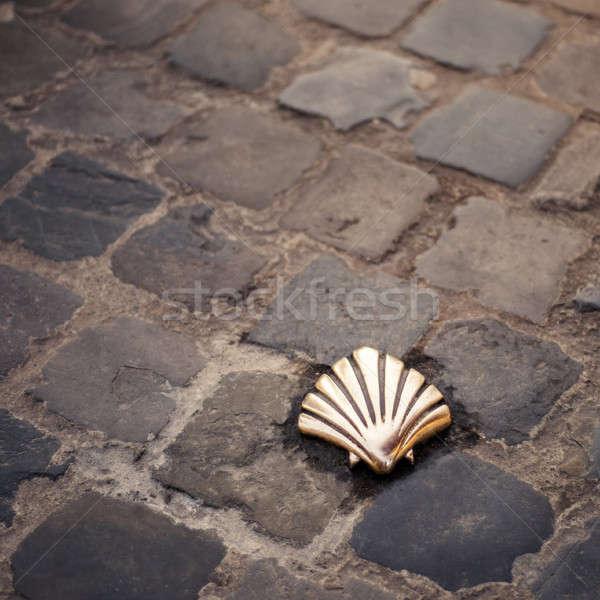 Santiago Shell Bruselas Bélgica carretera calle Foto stock © artjazz