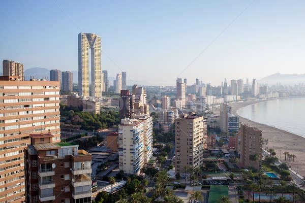 Spain, top view of the Benidorm Stock photo © artjazz