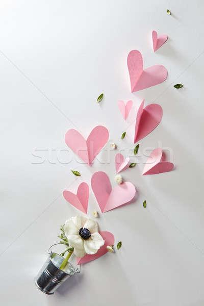 flowers and hearts Stock photo © artjazz