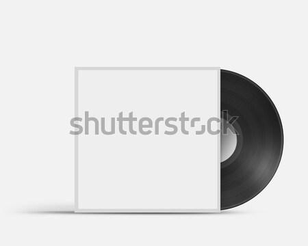 Vinyl record envelop dekken geïsoleerd witte Stockfoto © artjazz