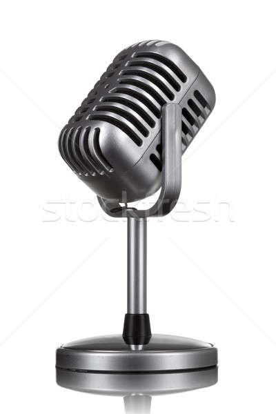 Retro microphone isolated on white Stock photo © artjazz
