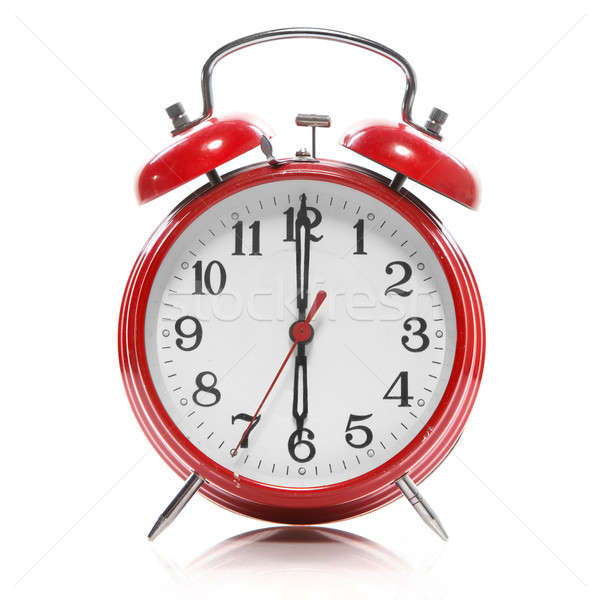 red old style alarm clock isolated on white Stock photo © artjazz