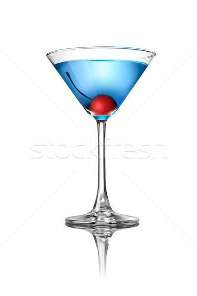 Azul martini cóctel aislado blanco alimentos Foto stock © artjazz
