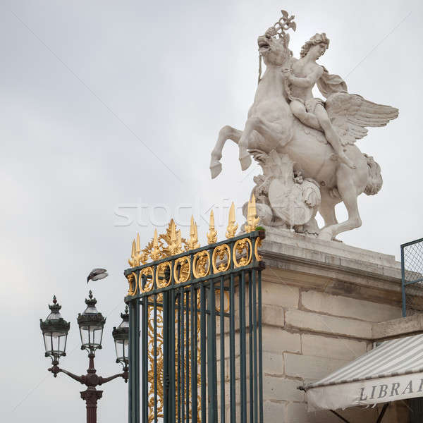 Equestrian statue in Paris Stock photo © artjazz