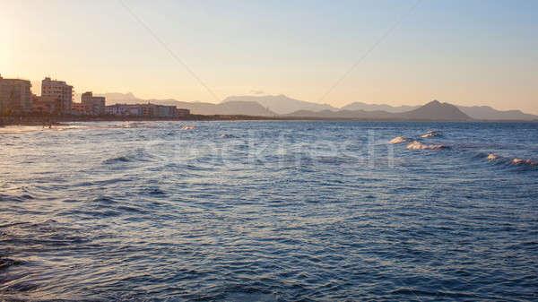 view to the coast bay beach Stock photo © artjazz