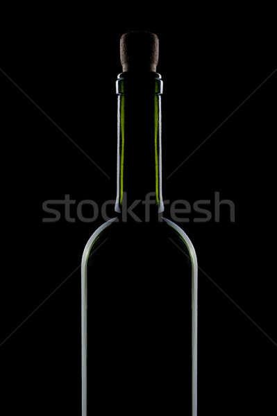 bottle red wine isolated on black Stock photo © artjazz