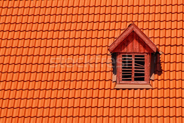 Orange roof tile in carpathians castle Stock photo © artjazz