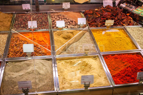 Spices and teas on the Spain market Stock photo © artjazz