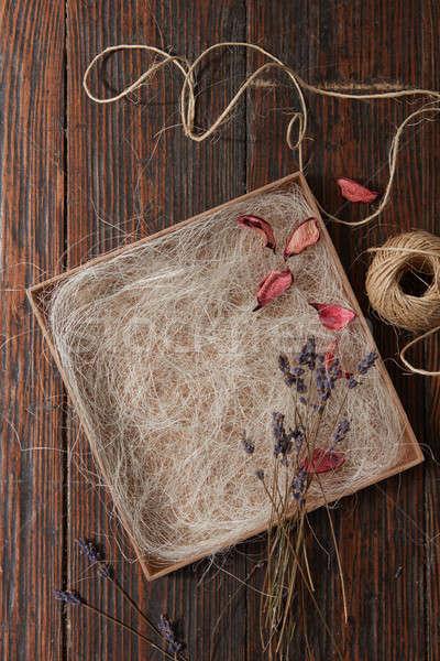 Parecchi essiccati lavanda rami bouquet Foto d'archivio © artjazz