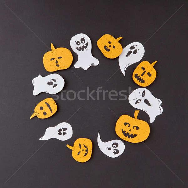 Décoratif cadre battant fantôme Photo stock © artjazz