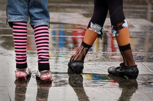 emo shoes standing under the rain Stock photo © artjazz