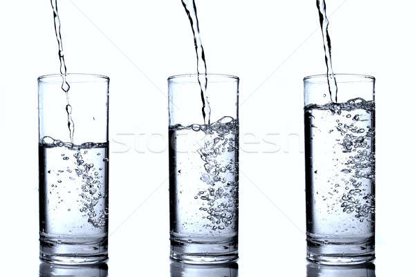 water in glass Stock photo © artjazz