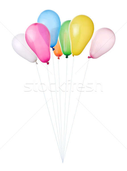 color balloons isolated on white Stock photo © artjazz
