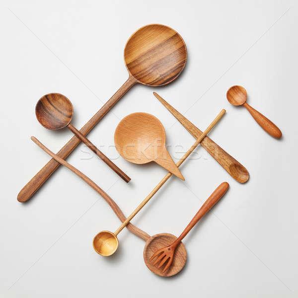 木 刀具 刀 孤立 白 商業照片 © artjazz