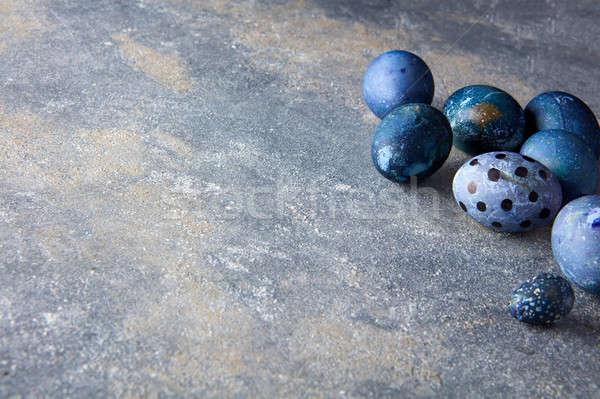 Stock fotó: Sok · húsvéti · tojások · sötét · húsvét · étel · háttér
