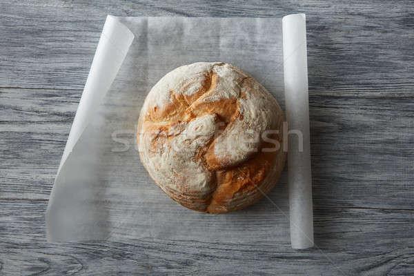 Pão pão topo ver escuro Foto stock © artjazz